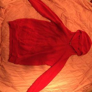 A red hoodie